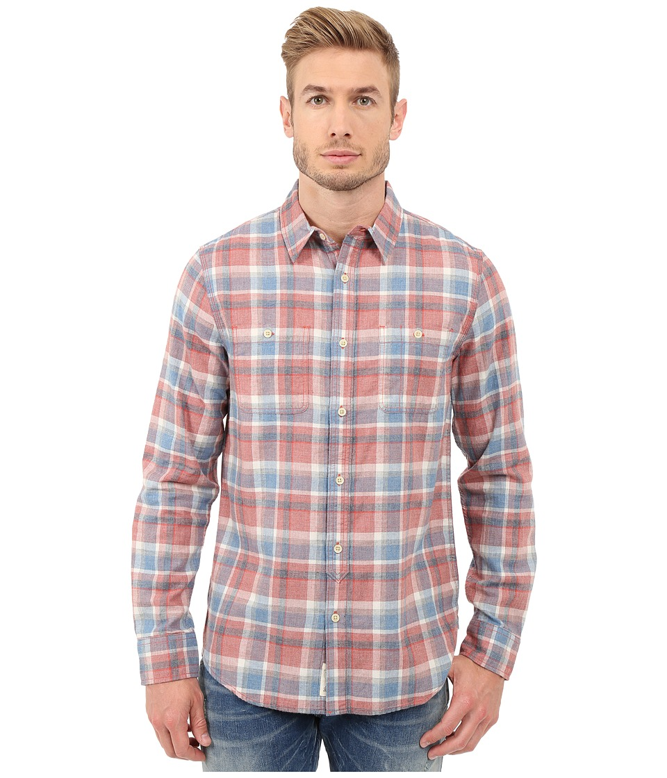 Lucky Brand - Mason Workwear Shirt (Red/White/Blue) Men's Clothing