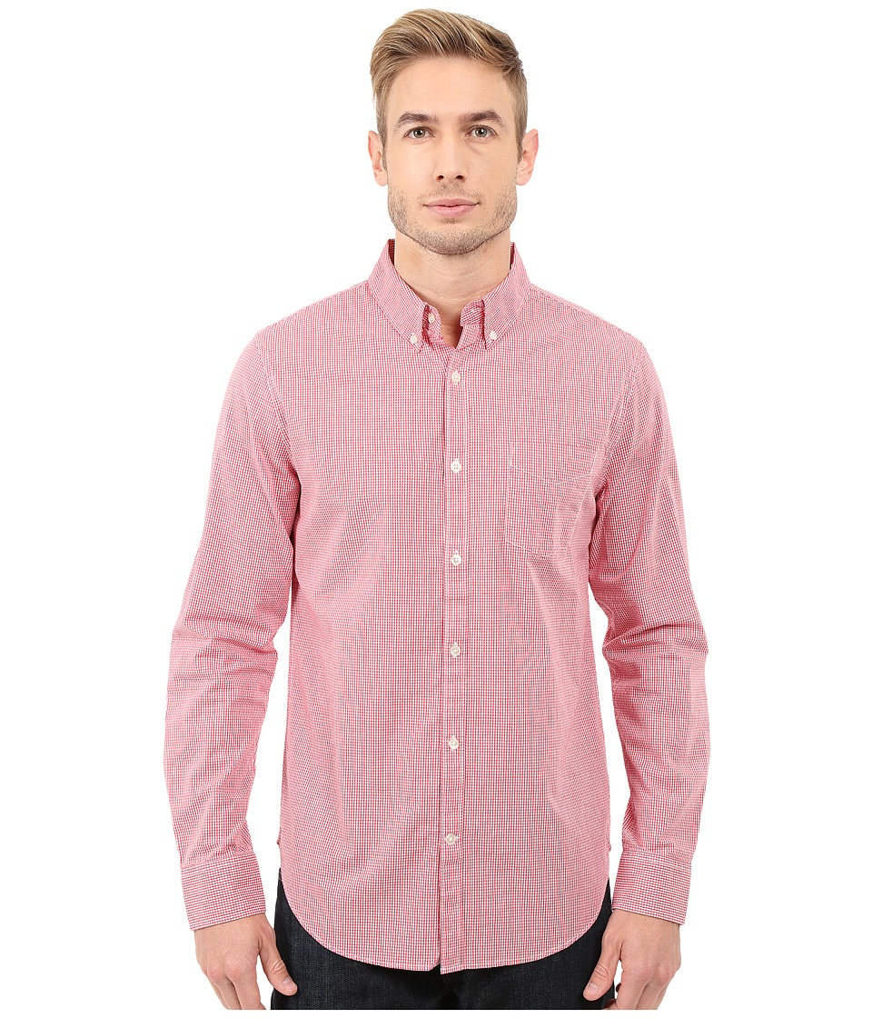 Lucky Brand - Washed White Label Shirt (Red Micro Gingham) Men's Clothing