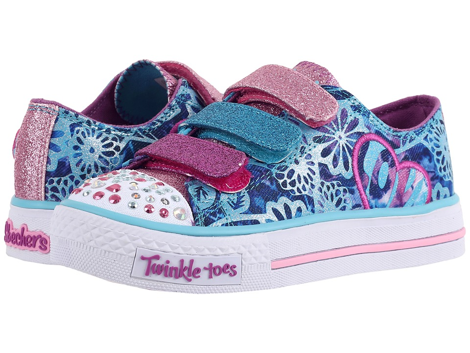 SKECHERS KIDS - Sweet Spirit 10630L Lights (Little Kid/Big Kid) (Turquoise/Purple) Girls Shoes