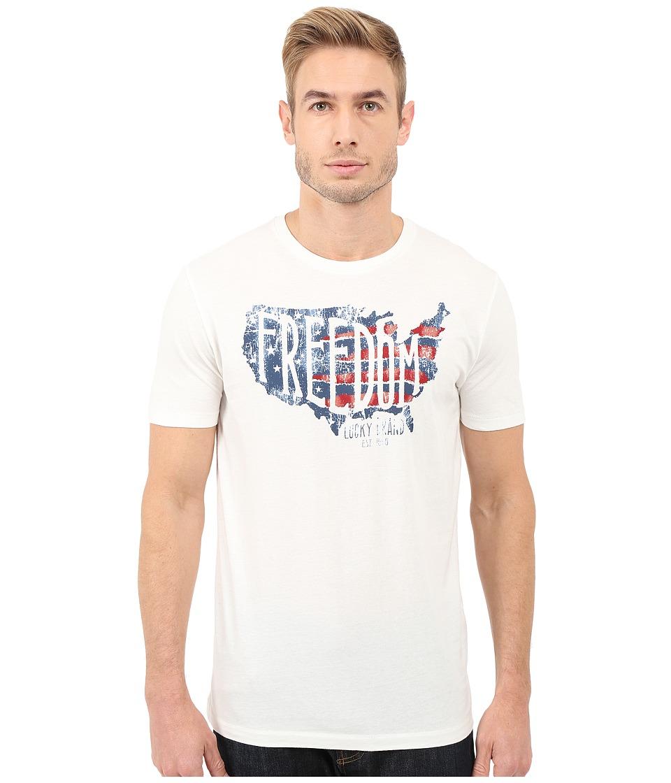 Lucky Brand - Freedom Graphic Tee (Marshmallow) Men's T Shirt