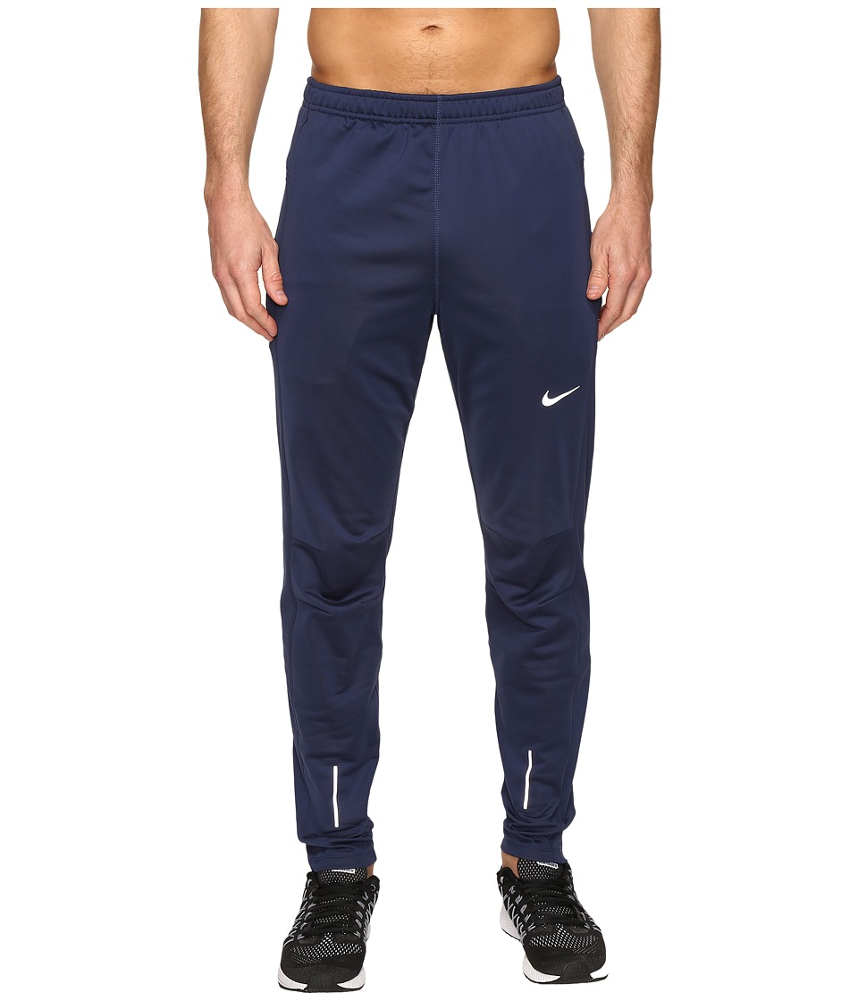 Nike - Dri-Fittm Thermal Pants (Midnight Navy/Reflective Silver) Men's Workout
