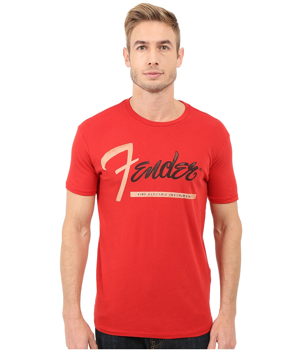 Lucky Brand Fender Stripe Graphic Tee (Pompeian Red) Men