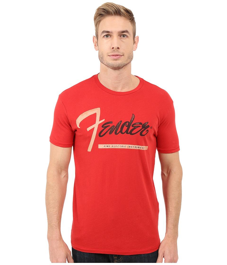 Lucky Brand - Fender Stripe Graphic Tee (Pompeian Red) Men's T Shirt