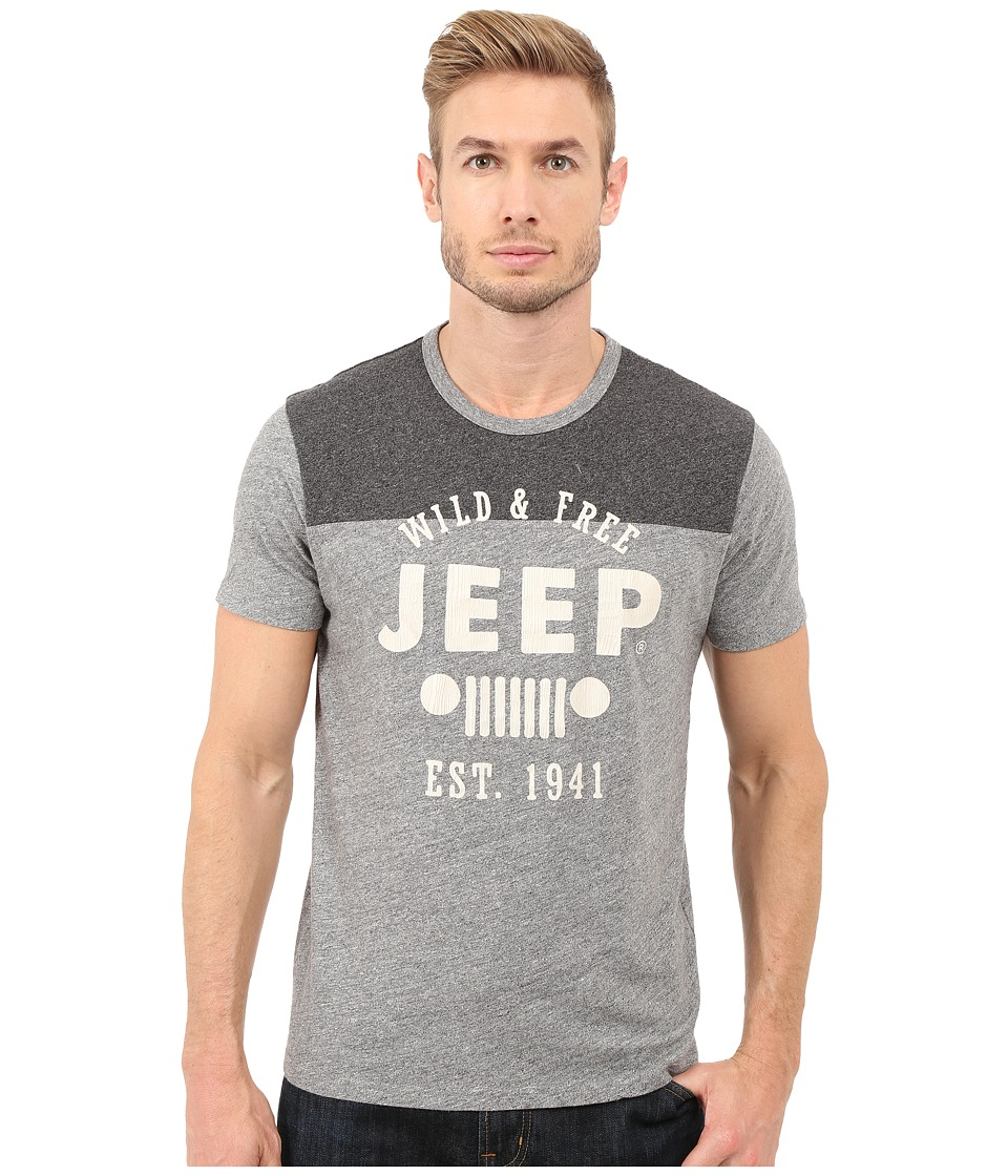 Lucky Brand - Jeep Graphic Tee (Heather Grey) Men's T Shirt