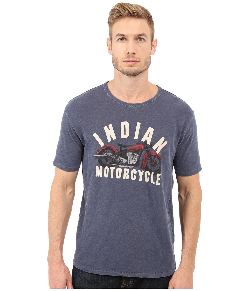 Lucky Brand - Indian Motorcycle Graphic Tee (American Navy) Men's T Shirt