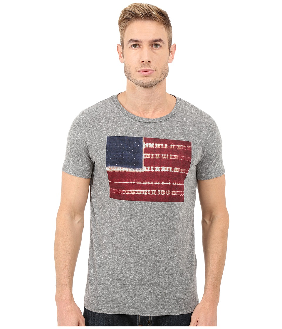 Lucky Brand - Tie-Dye Flag Graphic Tee (Grey) Men's T Shirt