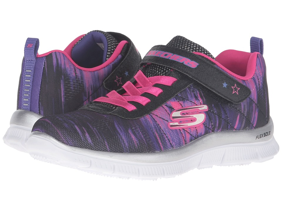 SKECHERS KIDS - Skech Appeal 81842L (Little Kid/Big Kid) (Black/Purple Pink) Girl's Shoes