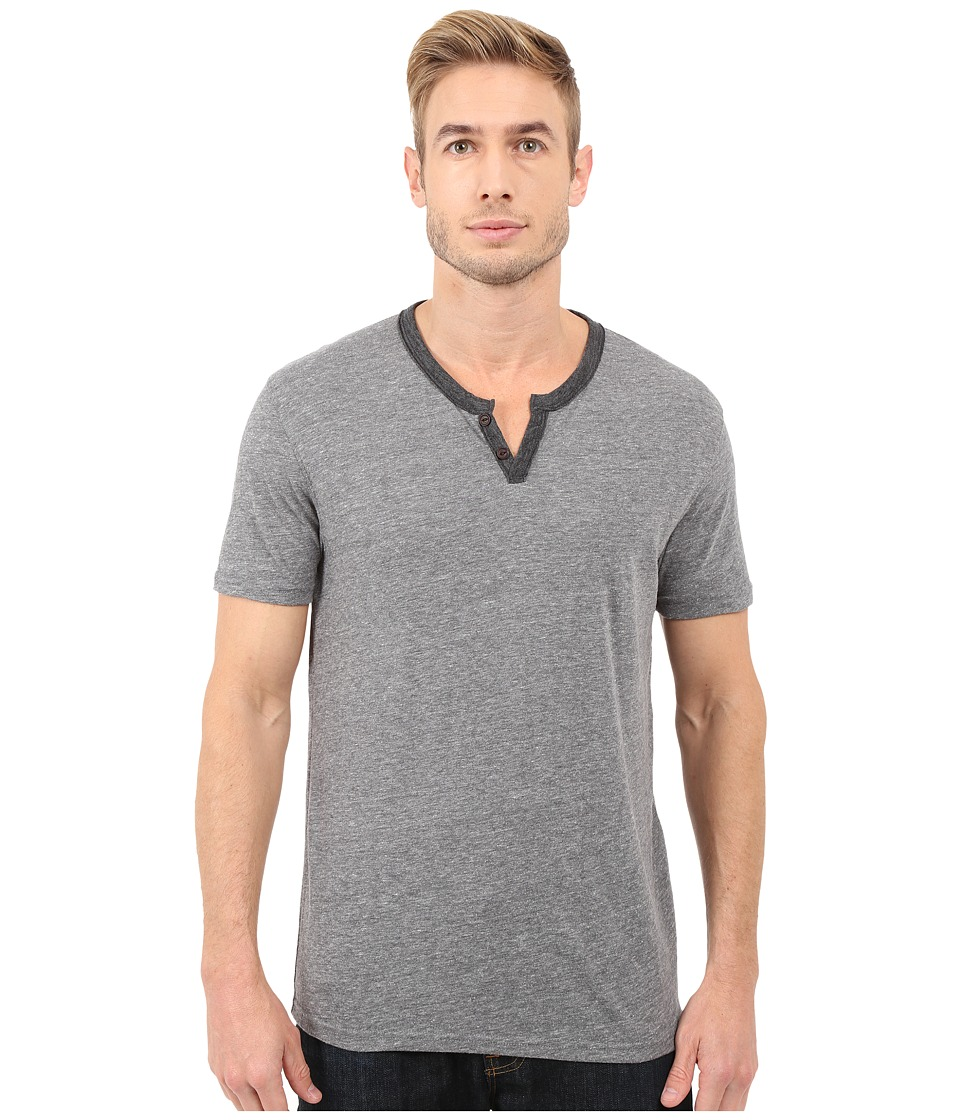 Lucky Brand - Notch Neck Tee (Heather Grey) Men's T Shirt