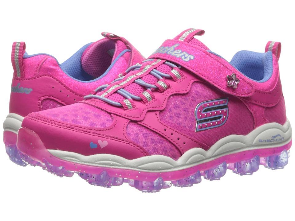 SKECHERS KIDS - Skech Air - Stardust 81295L (Little Kid/Big Kid) (Neon Pink/Periwinkle) Girl's Shoes