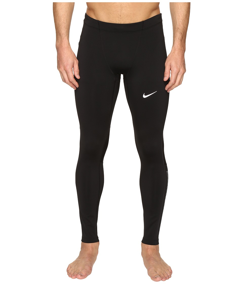 Nike - Power Flash Tech Running Tight (Black/Reflective Silver/Reflective Silver) Men's Workout