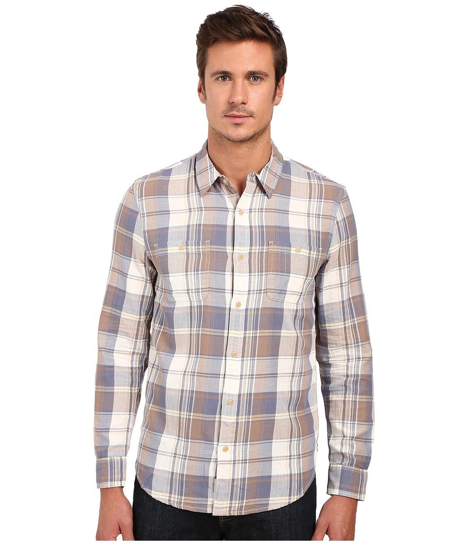 Lucky Brand Twill Mason Workwear Shirt (Blue/Grey) Men