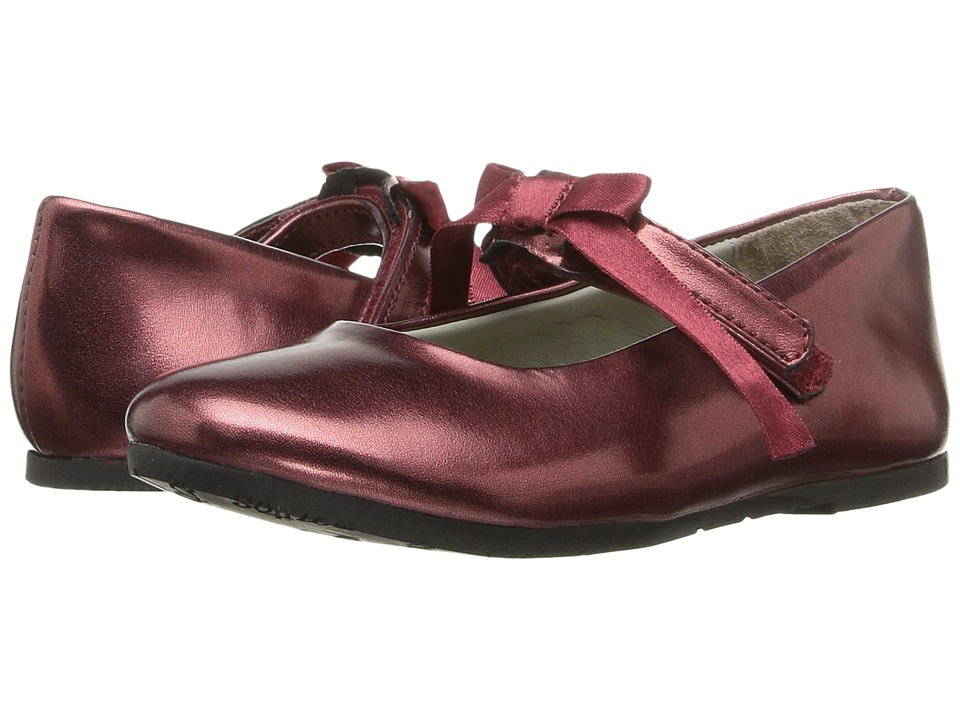 Pazitos - Classic Ballerina MJ PU (Toddler/Little Kid) (Burgundy) Girls Shoes