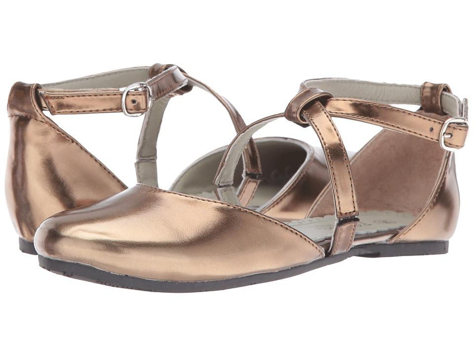 Pazitos - X Dorsey BF PU (Little Kid/Big Kid) (Brown) Girls Shoes