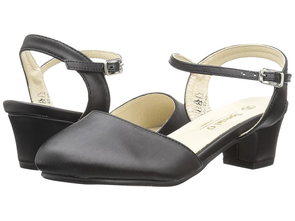 Pazitos - On Heels (Little Kid/Big Kid) (Black) Girl's Shoes