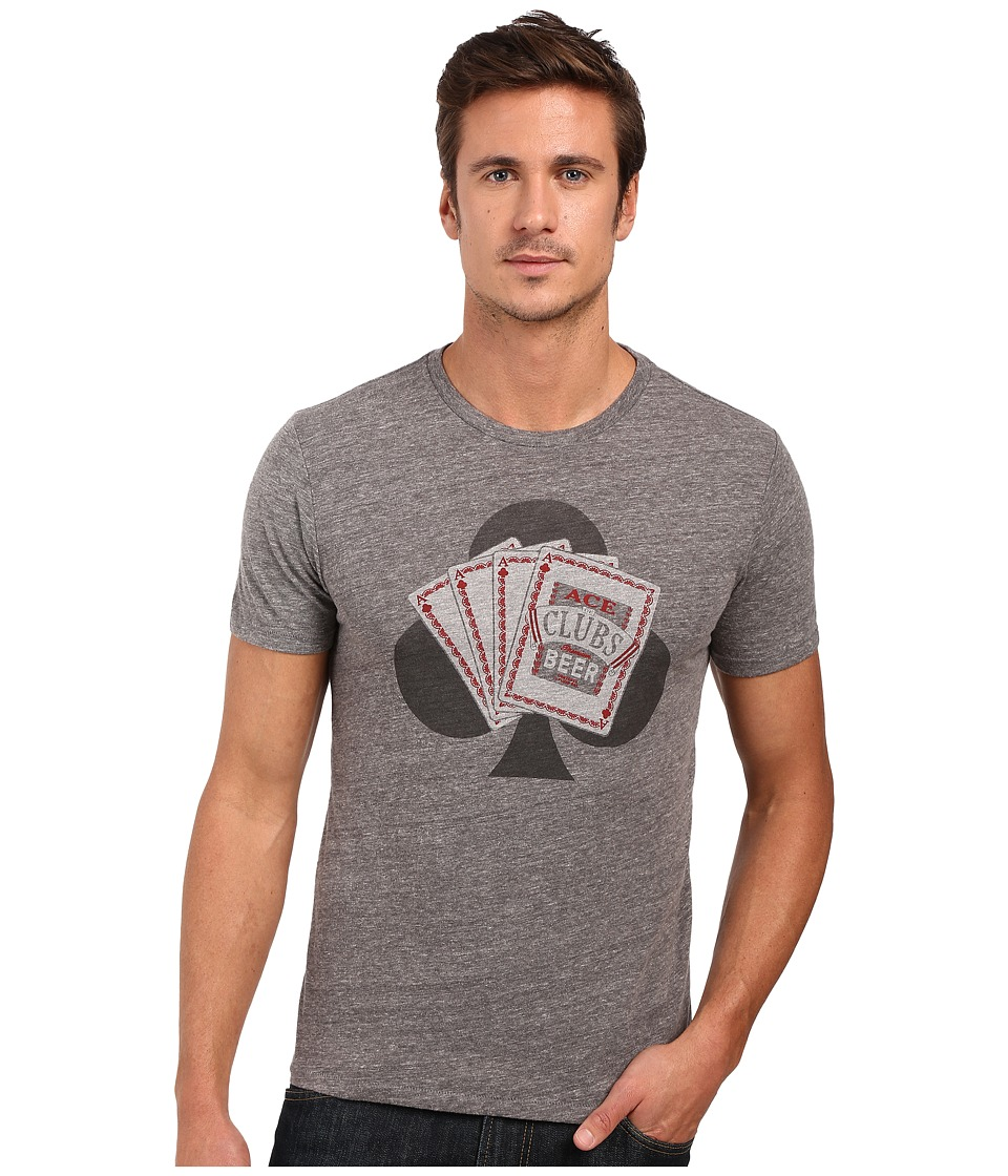 Lucky Brand - Ace Beer Graphic Tee (Grey) Men's T Shirt