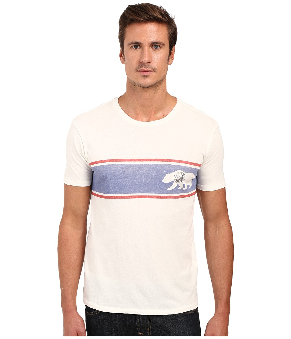 Lucky Brand - Bear Stripe Graphic Tee (Marshmallow) Men's T Shirt