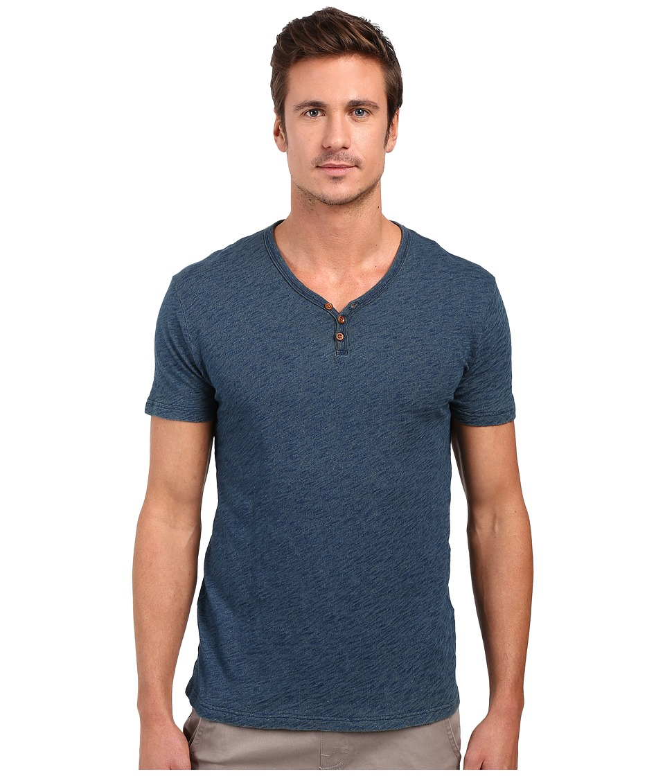 Lucky Brand Salt Point Y-Neck Tee (Indigo) Men
