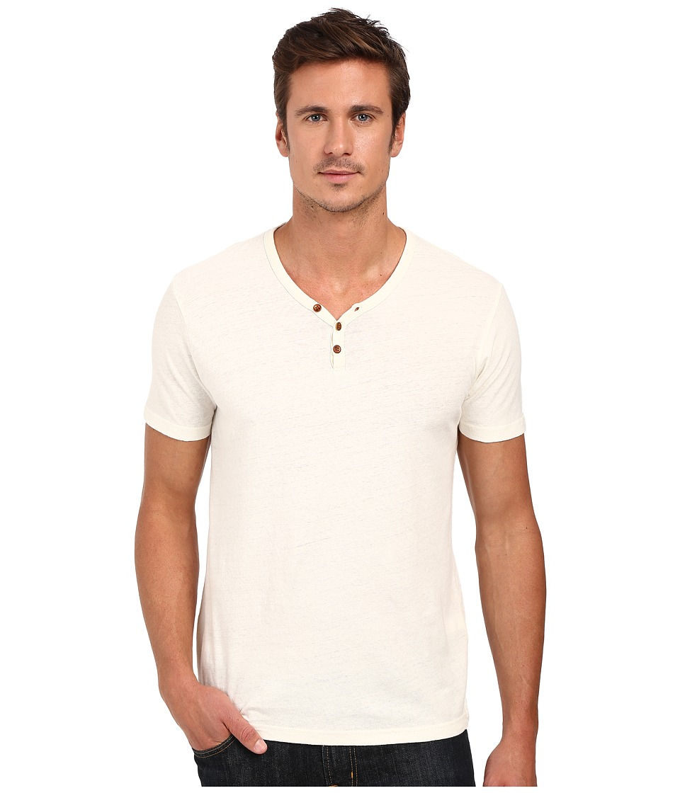 Lucky Brand Salt Point Y-Neck Tee (Marshmallow) Men