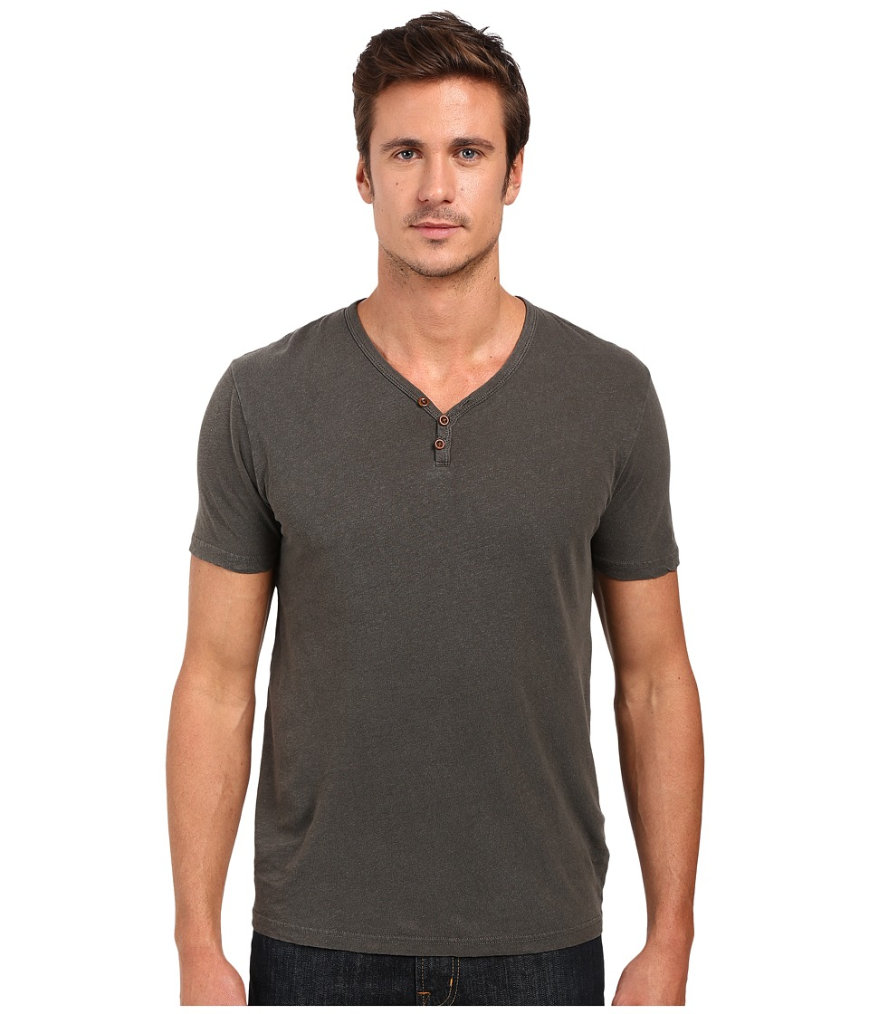 Lucky Brand - Salt Point Y-Neck Tee (Black Mountain) Men's T Shirt