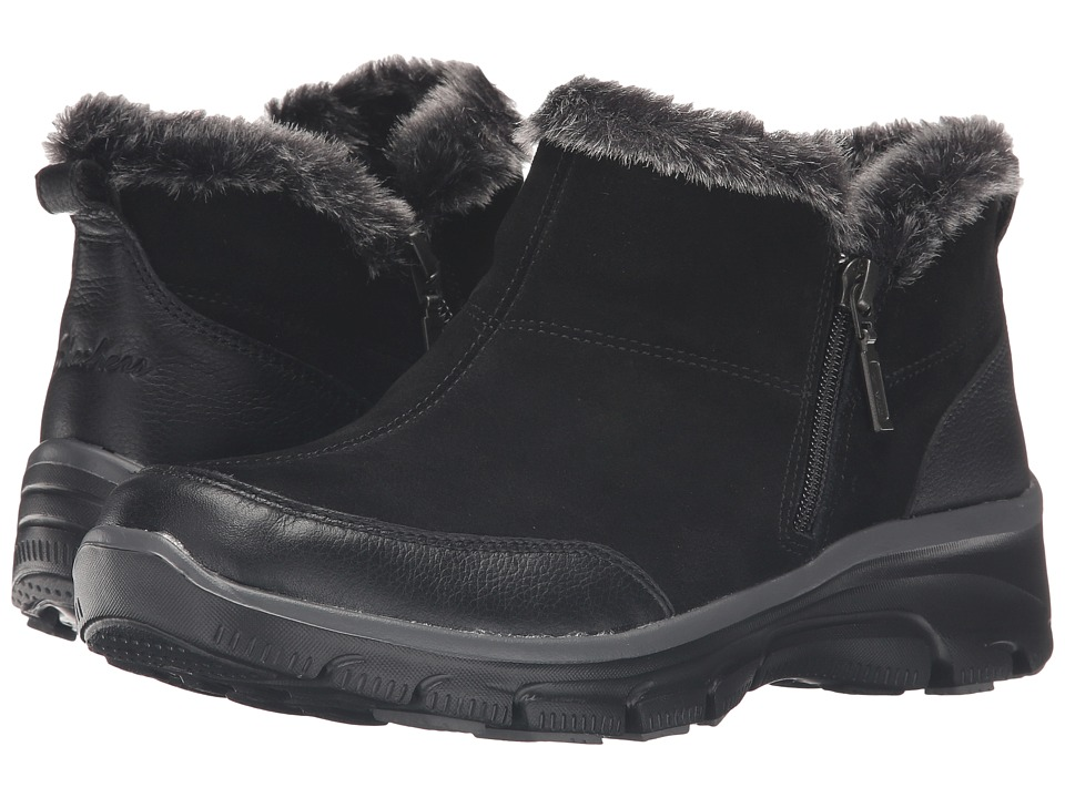 SKECHERS - Easy Going (Black) Women's Zip Boots