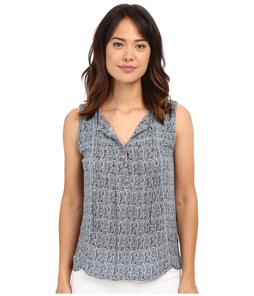 Lucky Brand - Paisley Print Top (Blue Multi) Women's Clothing