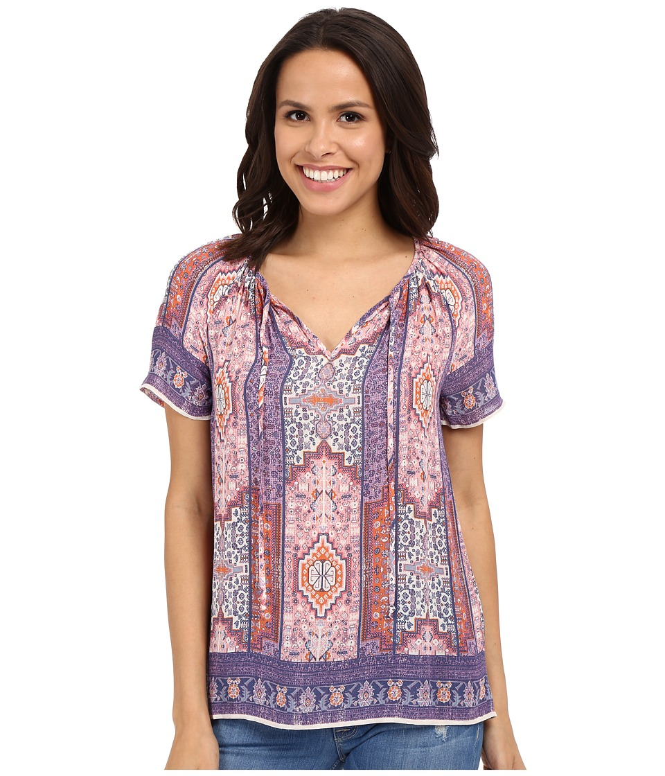 Lucky Brand - Tapestry Print Top (Pink Multi) Women's Blouse