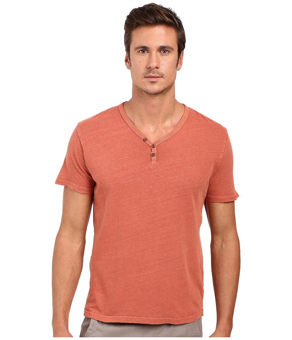 Lucky Brand - Salt Point Y-Neck Tee (Red) Men's T Shirt