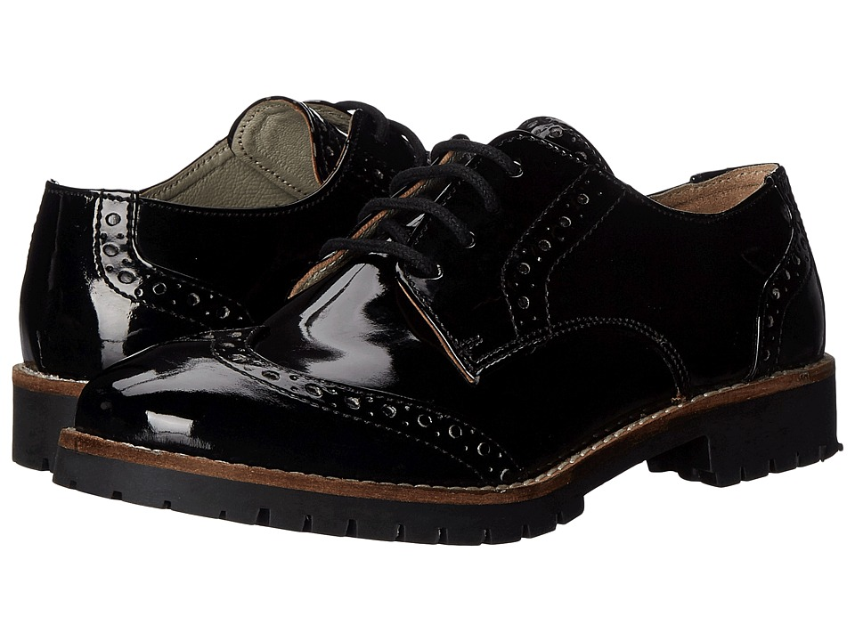 Pazitos - The Oxford-Wing Tip PU (Toddler/Little Kid/Big Kid) (Black) Girls Shoes