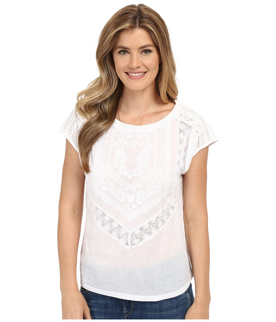 Lucky Brand - Textured Knit Top (Lucky White) Women's Clothing