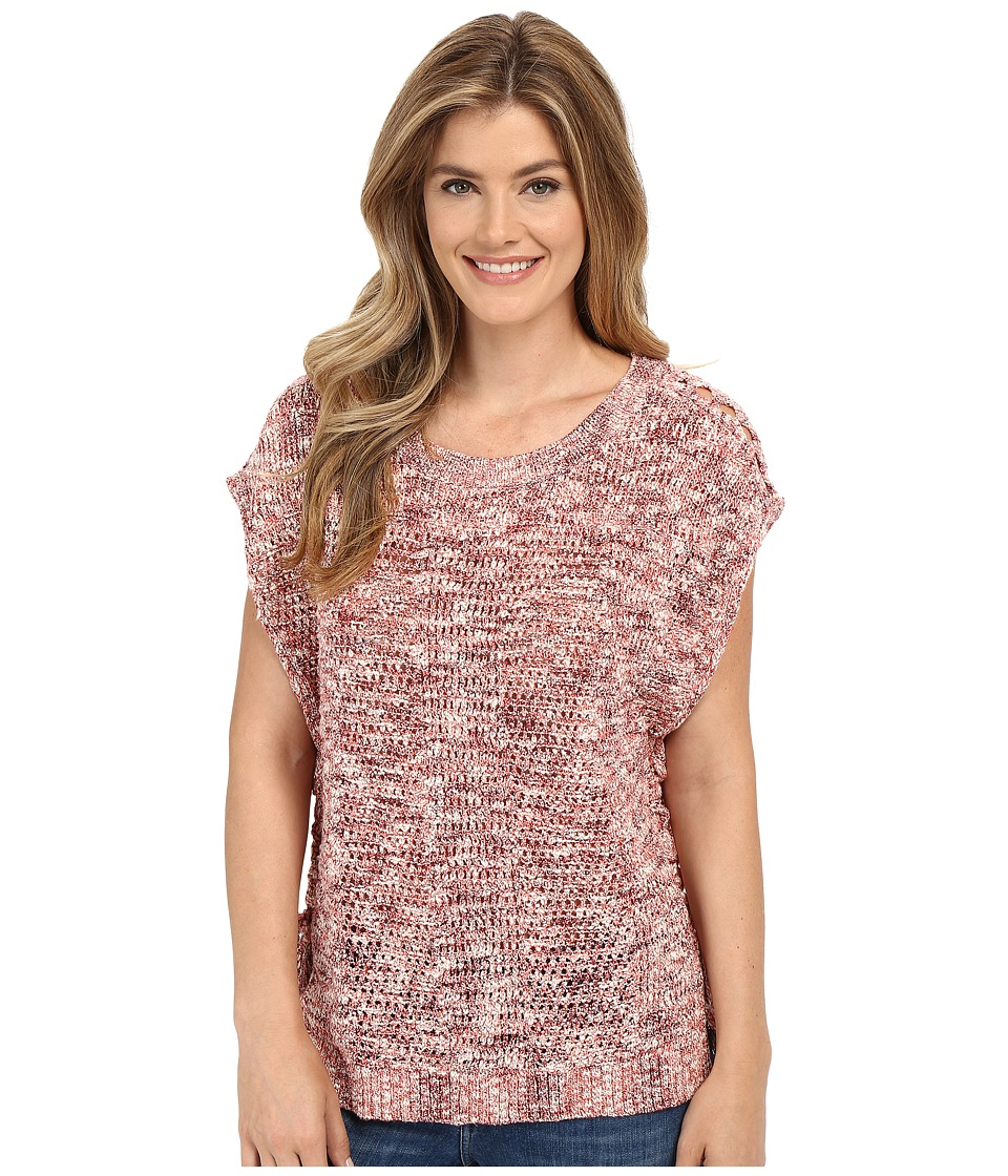 Lucky Brand - Marled Pullover (Red Multi) Women's Clothing
