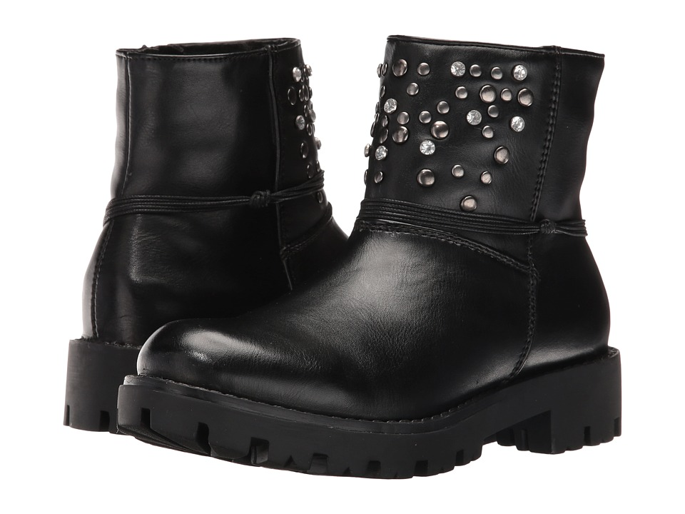 Pazitos - Galaxy Bootie PU (Little Kid/Big Kid) (Black) Girls Shoes