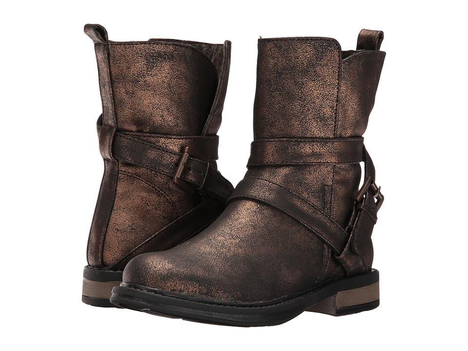 Pazitos - Ziggy Bootie PU (Little Kid/Big Kid) (Bronze) Girls Shoes