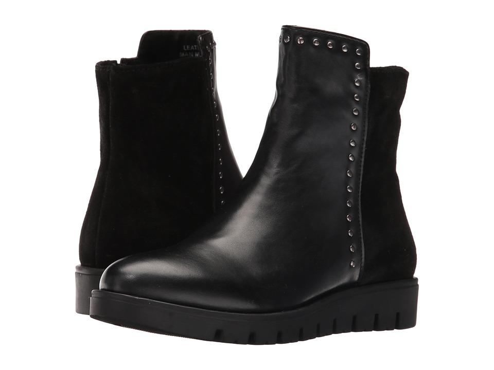 Pazitos - Studs Bootie PU (Little Kid/Big Kid) (Black) Girls Shoes