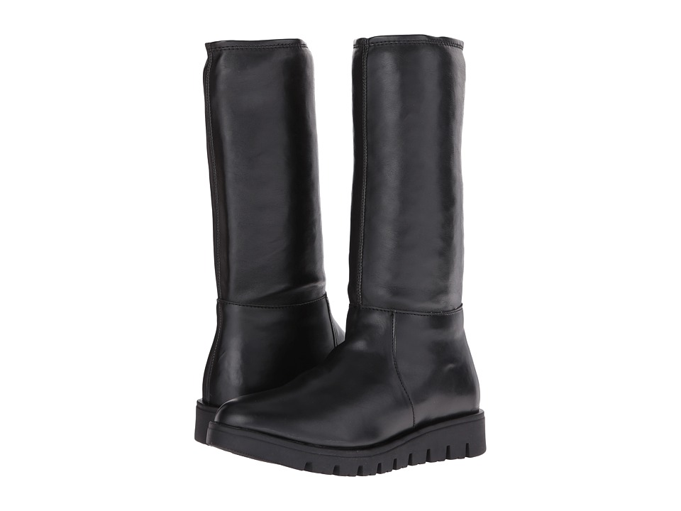 Pazitos - Stretch High Boot PU (Little Kid/Big Kid) (Black) Girls Shoes