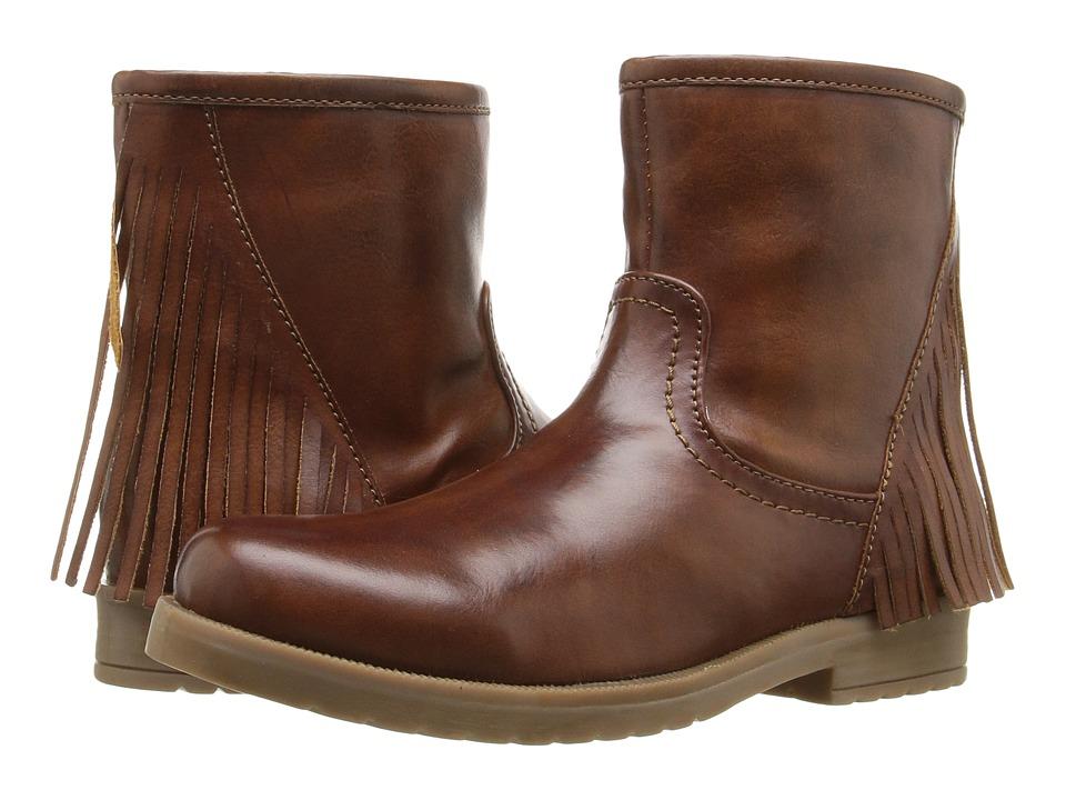Pazitos - Sideways Short Bootie PU (Little Kid/Big Kid) (Natural) Girls Shoes