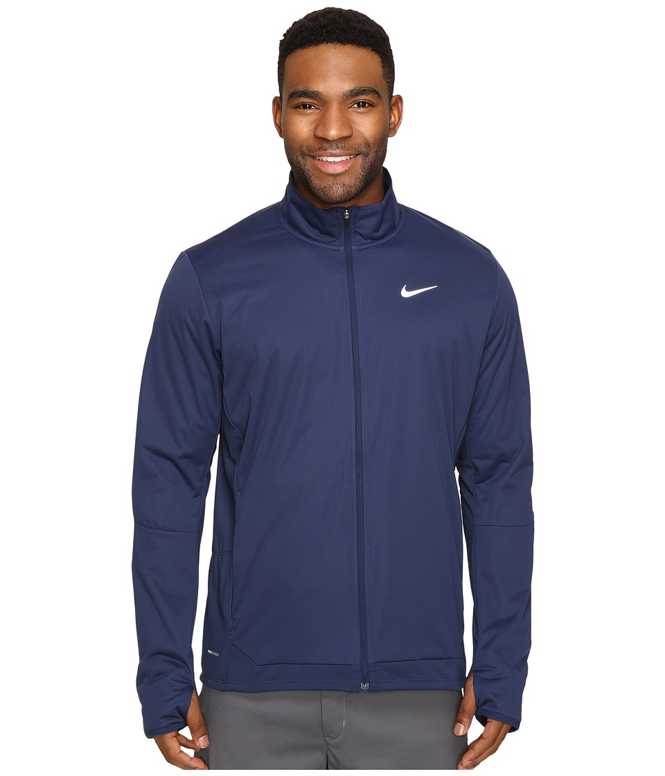 Nike - Shield Full-Zip Jacket (Midnight Navy/Reflective Silver) Men's Coat