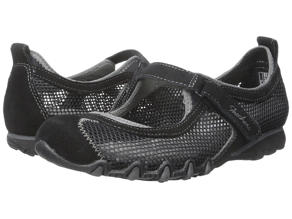 SKECHERS - Bikers - Herb Garden (Black) Women's Maryjane Shoes