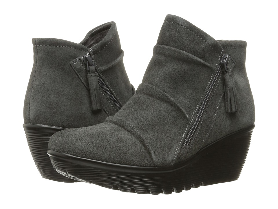 SKECHERS - Parallel (Charcoal) Women's Zip Boots