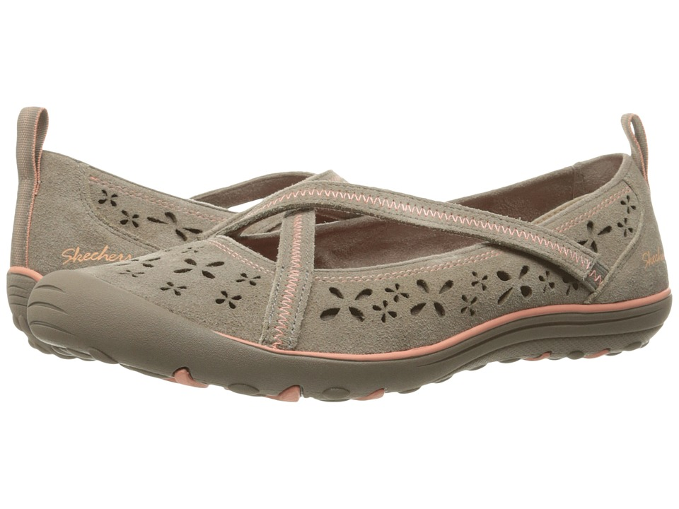 SKECHERS - Earth Fest - Sustainability (Dark Taupe) Women's Slip on Shoes