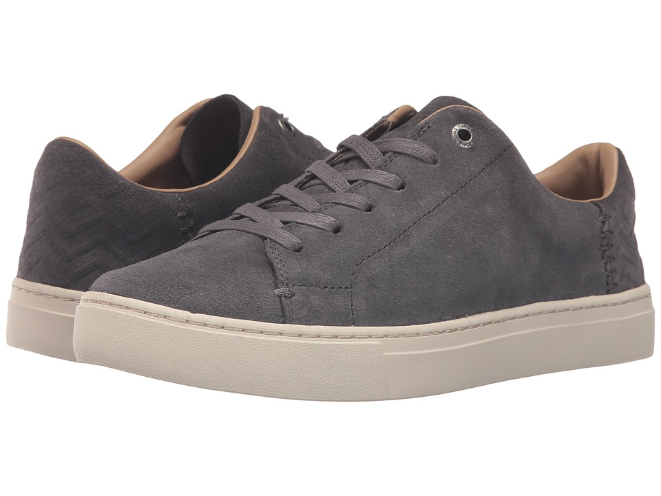 TOMS - Lenox Sneaker (Grey Suede) Women's Lace up casual Shoes