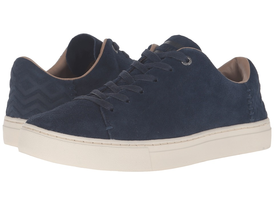TOMS - Lenox Sneaker (Navy Suede) Women's Lace up casual Shoes