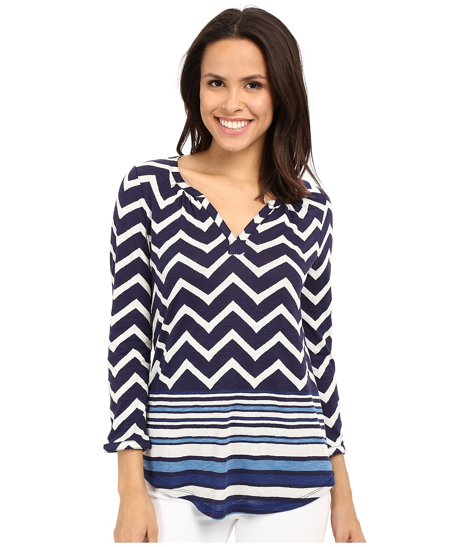 Lucky Brand - Chevron Print Top (Navy Multi) Women's Blouse