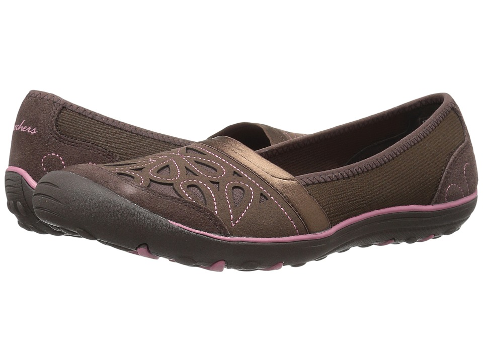 SKECHERS - Earth Fest - Repurpose (Chocolate) Women's Slip on Shoes