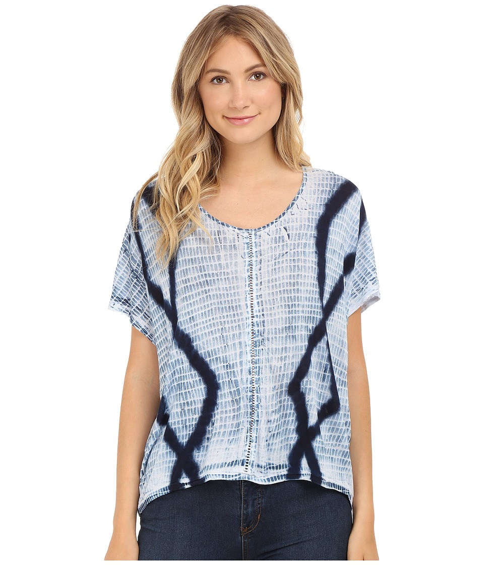 Lucky Brand - Tie-Dye Top (Blue Multi) Women's Clothing