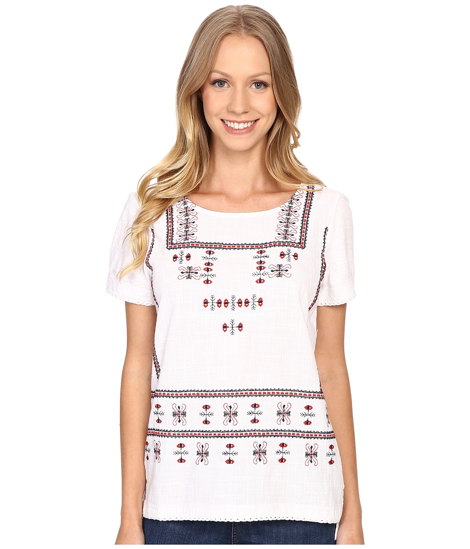 Lucky Brand - Embroidered Top (Multi) Women's Clothing