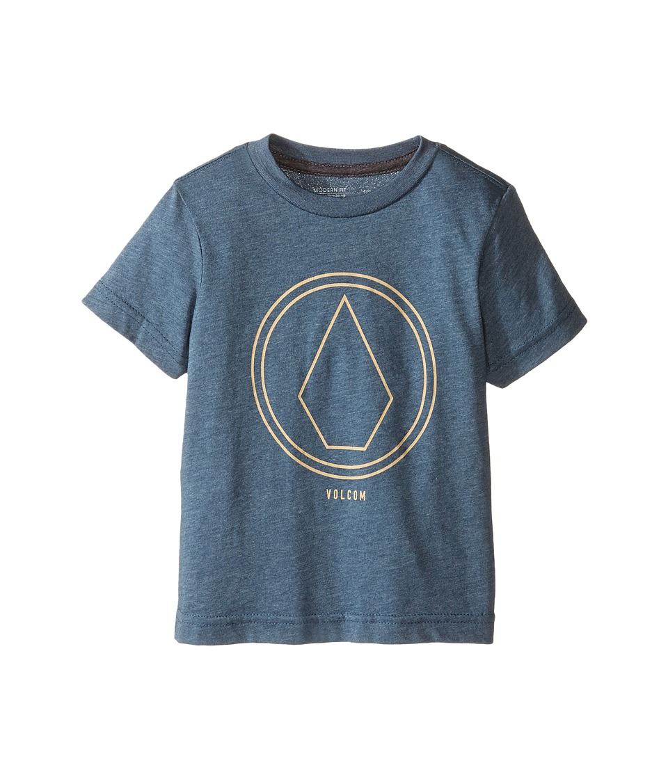 Volcom Kids - Pin Line Short Sleeve Tee (Toddler/Little Kids) (Airforce Blue Heather) Boy's T Shirt