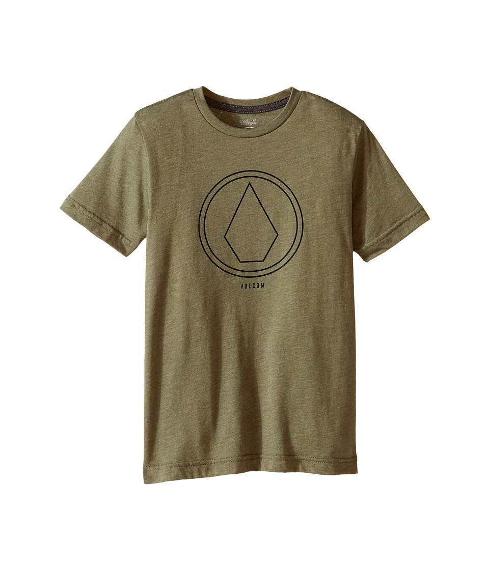 Volcom Kids - Pin Line Short Sleeve Tee (Toddler/Little Kids) (Vineyard Green Heather) Boy's T Shirt