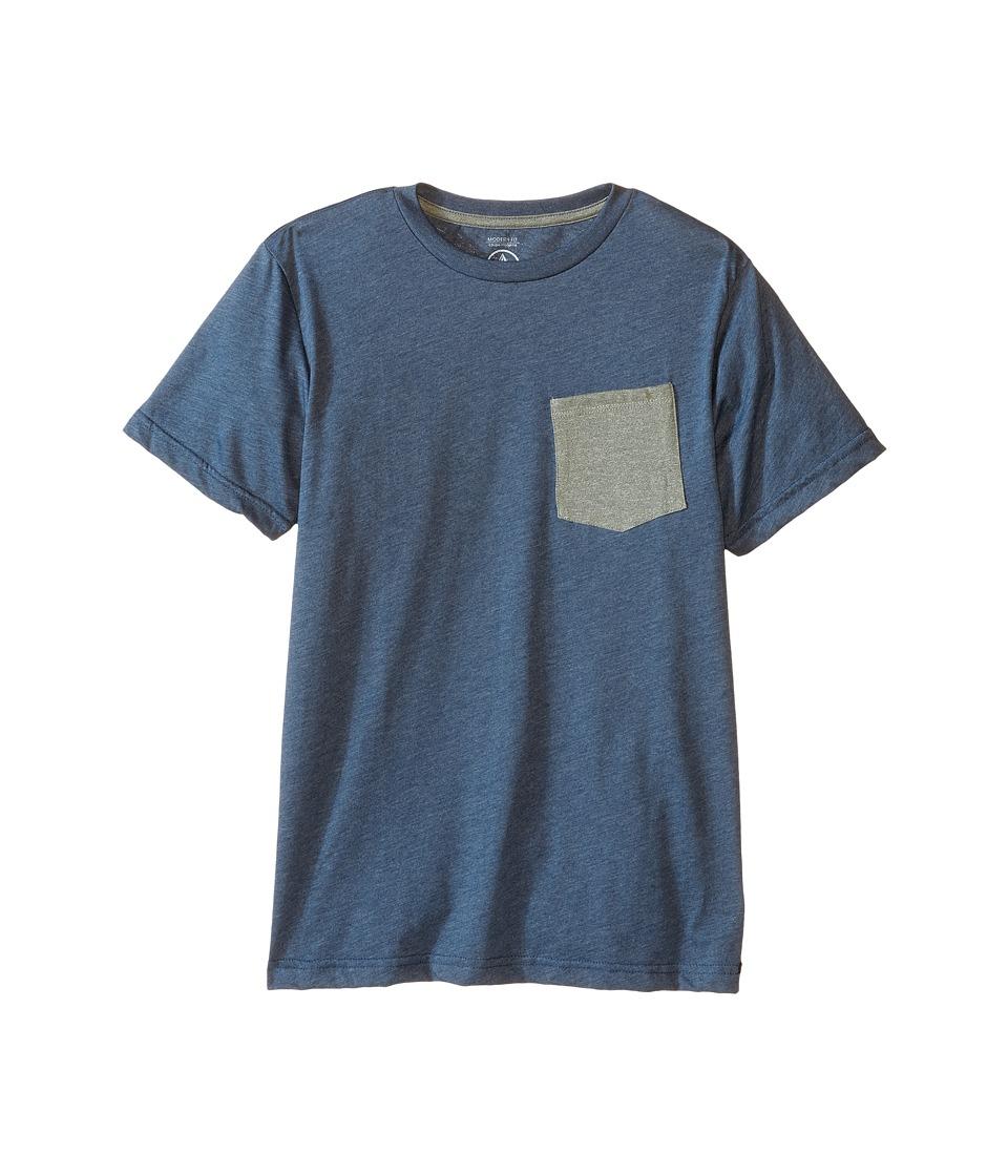 Volcom Kids - Heather Twist Short Sleeve Tee (Big Kids) (Airforce Blue Heather) Boy's T Shirt