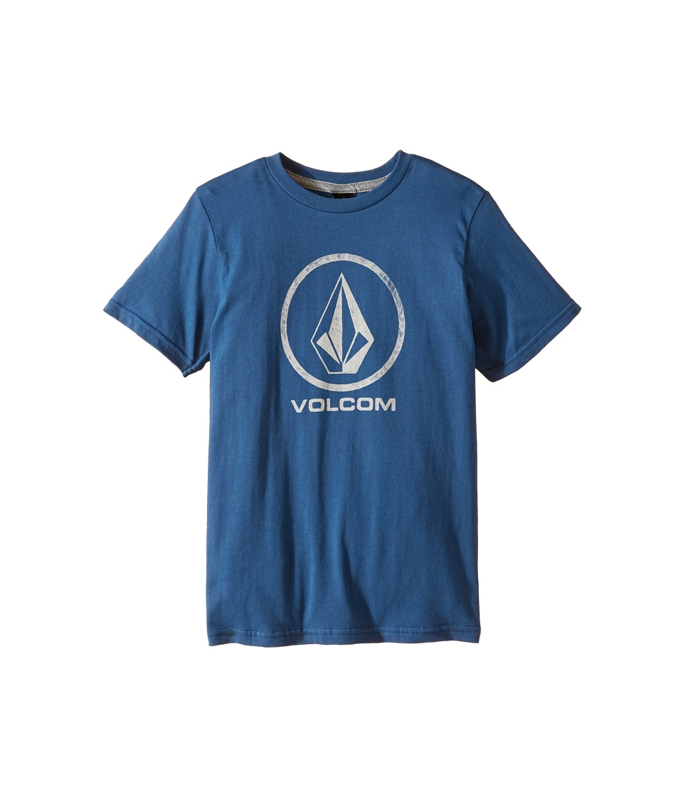 Volcom Kids - Fade Stone Short Sleeve Tee (Toddler/Little Kids) (Smokey Blue) Boy's T Shirt