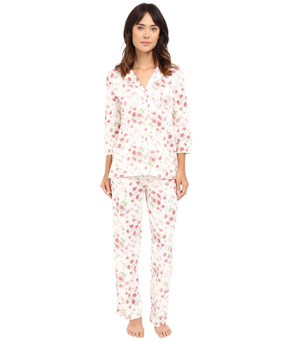 LAUREN Ralph Lauren - Bingham Knits Pajamas (Floral) Women's Pajama Sets